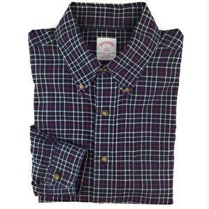 Brooks Brothers Men Shirt Large Button Long Sleeve
